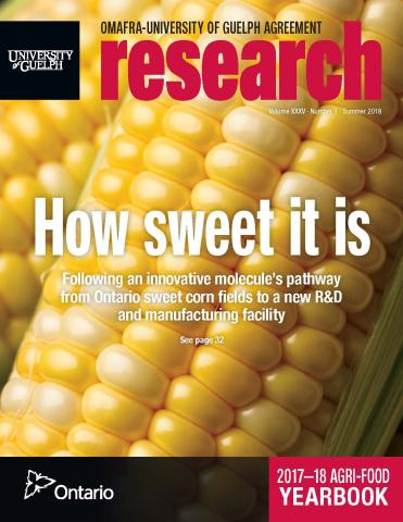 "Cover of ""How Sweet It Is"" - close up of a cob of corn with graphics on it"