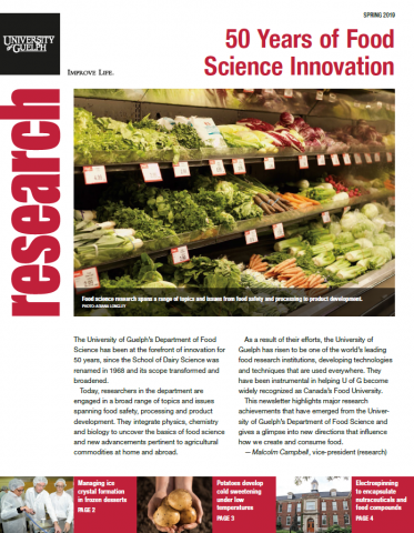 50 Years of Food Science newsletter cover