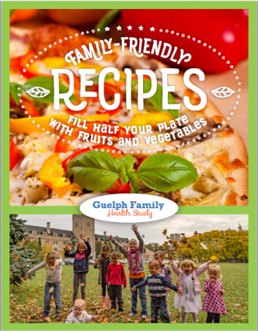Cover of recipe book for Guelph Family Health Study