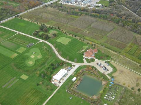 Aerial view of Guelph Turfgrass Institute