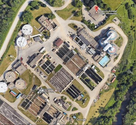 Google map earth view of waste water pilot