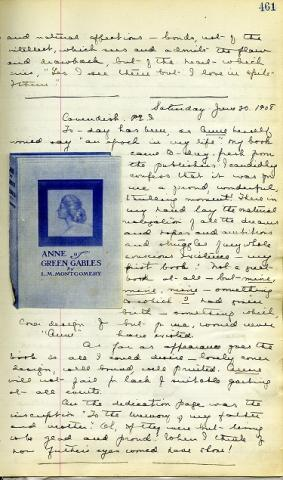 A page from L.M. Montgomery's diary