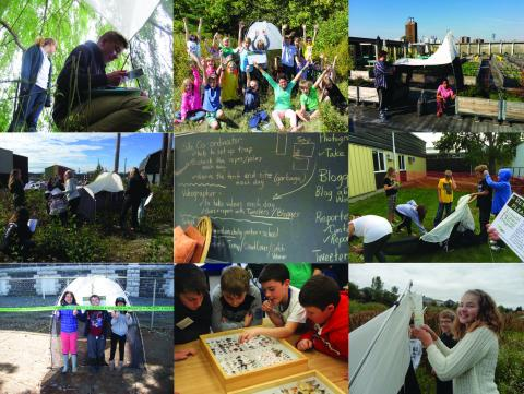 A collage of photos showing different aspects of the program