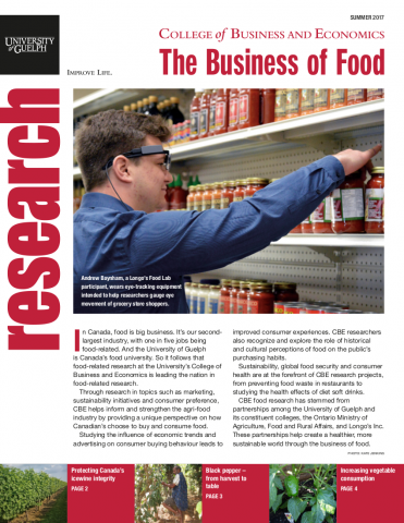 Cover of Research Magazine - The Business of Food