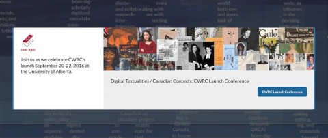 Screenshot of the CWRC homepage