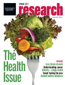 cover of most recent research magazine