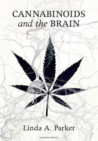 """The cover of Prof. Parker's book """"Cannabinoids and the Brain"""""""