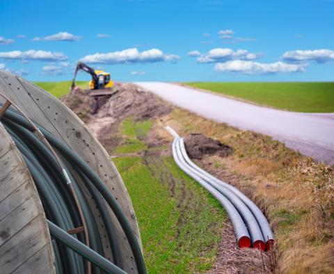 Photo of cables being laid. Adobe stock.