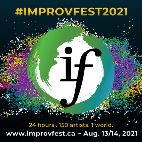 Poster for the ImprovFest 2021 - graphic