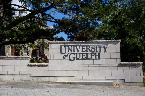 The University of Guelph sign