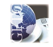 picture of a globe on a plate overlayed with the initial G F T C
