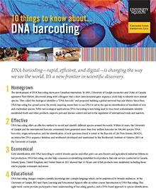 first page of ten things to know about DNA barcoding publication
