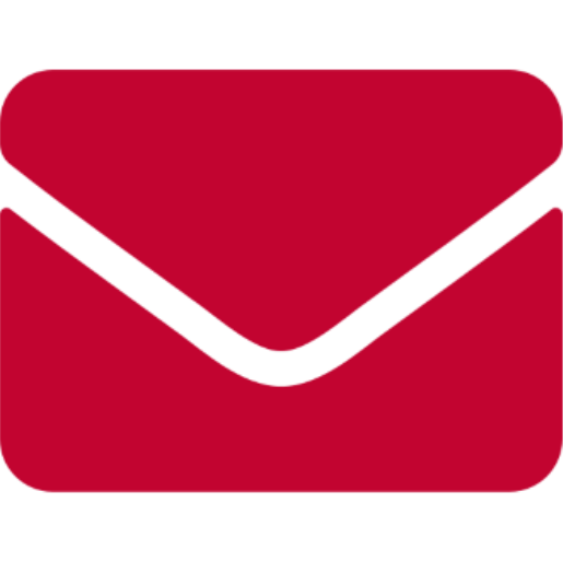 Red graphic of an envelope