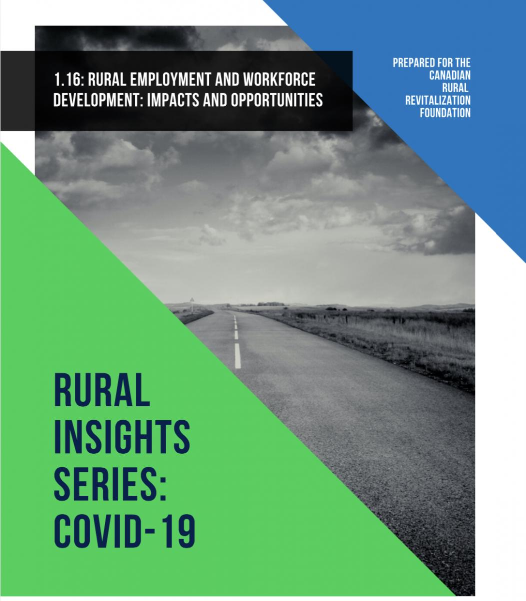 Open road image on cover page of CRRF Rural Insights Employment