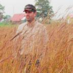 Robert Corry in prairie planting
