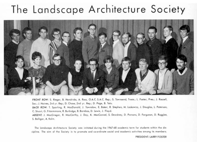Group photo of Landscape Architecture Society