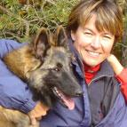 Wendy McWilliam with a dog