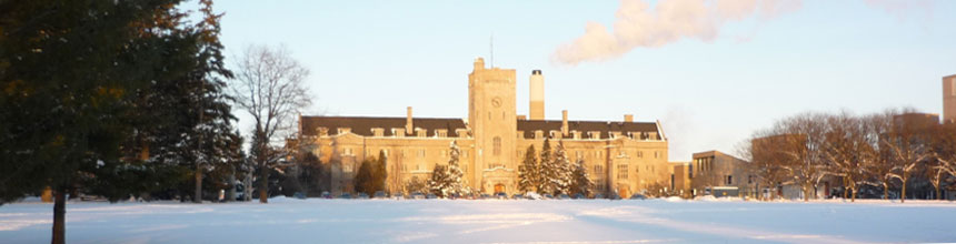 Johnston Hall in the Winter