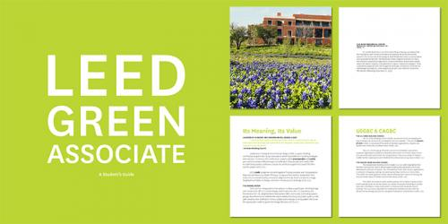 A page from the LEED Green Associate Handbook