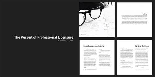 "Cover of ""The Pursuit of Professional Licensure"" Handbook"
