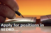 Apply for positions in SEDRD