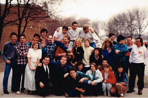 BLA Class of 1989 Photo in front of LA building sign