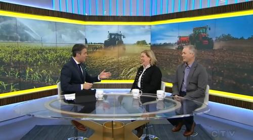 CTV video clip with tractor in field in backdrop