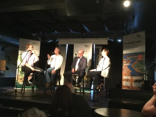 On stage panel discussion at Bookshelf