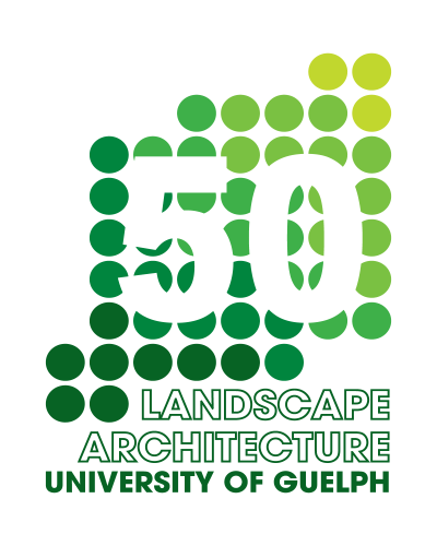 50 years of Landscape Architecture at Guelph logo