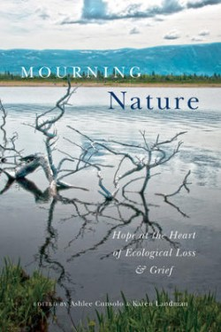 Mourning Nature book cover with branches in water