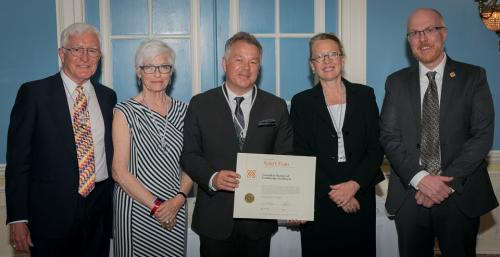 Robert Evans invested as CSLA College Fellow, receiving award from CSLA members