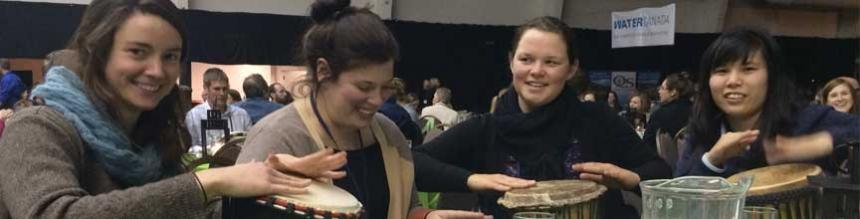 Latornell Conference 2014, students playing drums