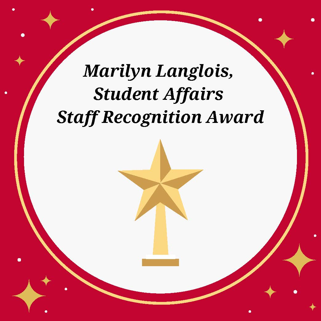 Logo for Marilyn Langlois, Student Affairs Staff Recognition Award