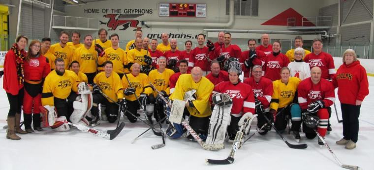 Group photo of hockey players
