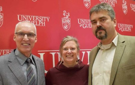 President Franco Vaccarino with Co-Chairs Prof. Catherine Carstairs and Peter Routledge.