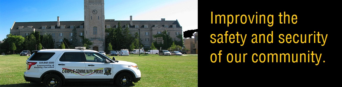 Campus Police on Johnston Green