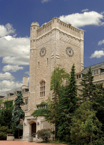 Johnston Hall clock tower