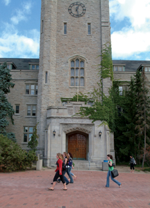 Johnston Hall entrance